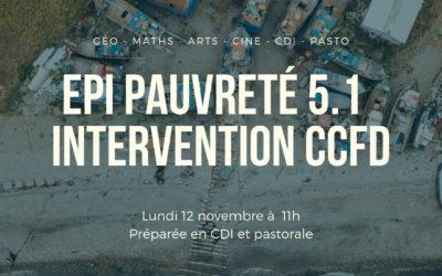 [COLLEGE – Beaugency] 12-11-2018 : Découverte du CCFD en 5e1