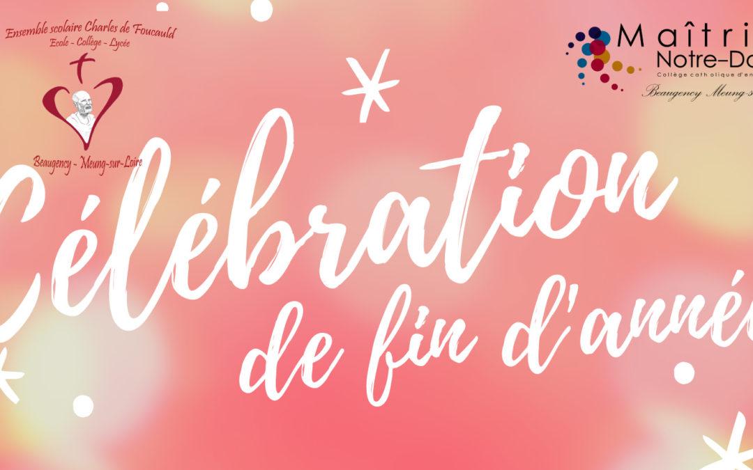 Célébration de fin d'année à Beaugency