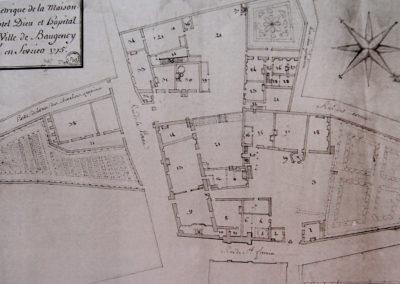Plan de l'Hôtel-Dieu en 1775