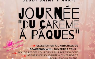 ANNULEES – Vendredi 3 et Jeudi 9 avril : Journées Du Carême à Pâques